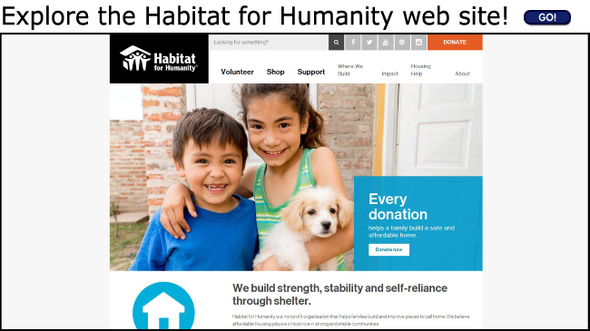 Habitat for Humanity Official Web Site